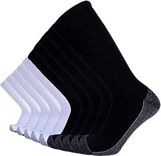 10P Pack Men's Cotton Moisture Wicking Cushion Crew Socks