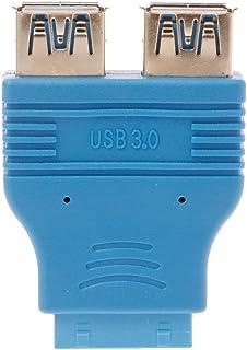 okstylerty マザーボード パソコン・周辺機器 PC 配線アクセサリー マザーボード9ピンからUSB2.0へ2