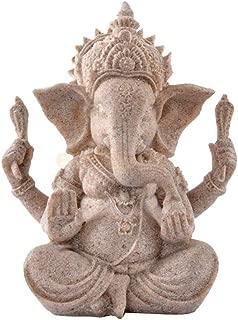 Ganesha Buddha Statue India Thailand Elephant Deity Figurine Decor Sandstone Hand Carved Animal Bodhisattva Collection