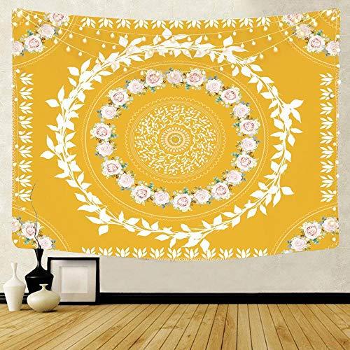 WERT Indischer Mandala Wandteppich Wandbehang Teppich werfen Yogamatte Strand werfen...