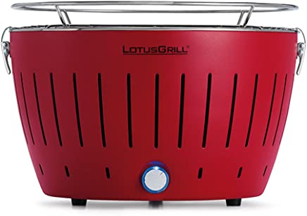 LotusGrill G-RO-34 - Barbacoa de carbón sin humo 35 x 26 x 23.4 , color rojo