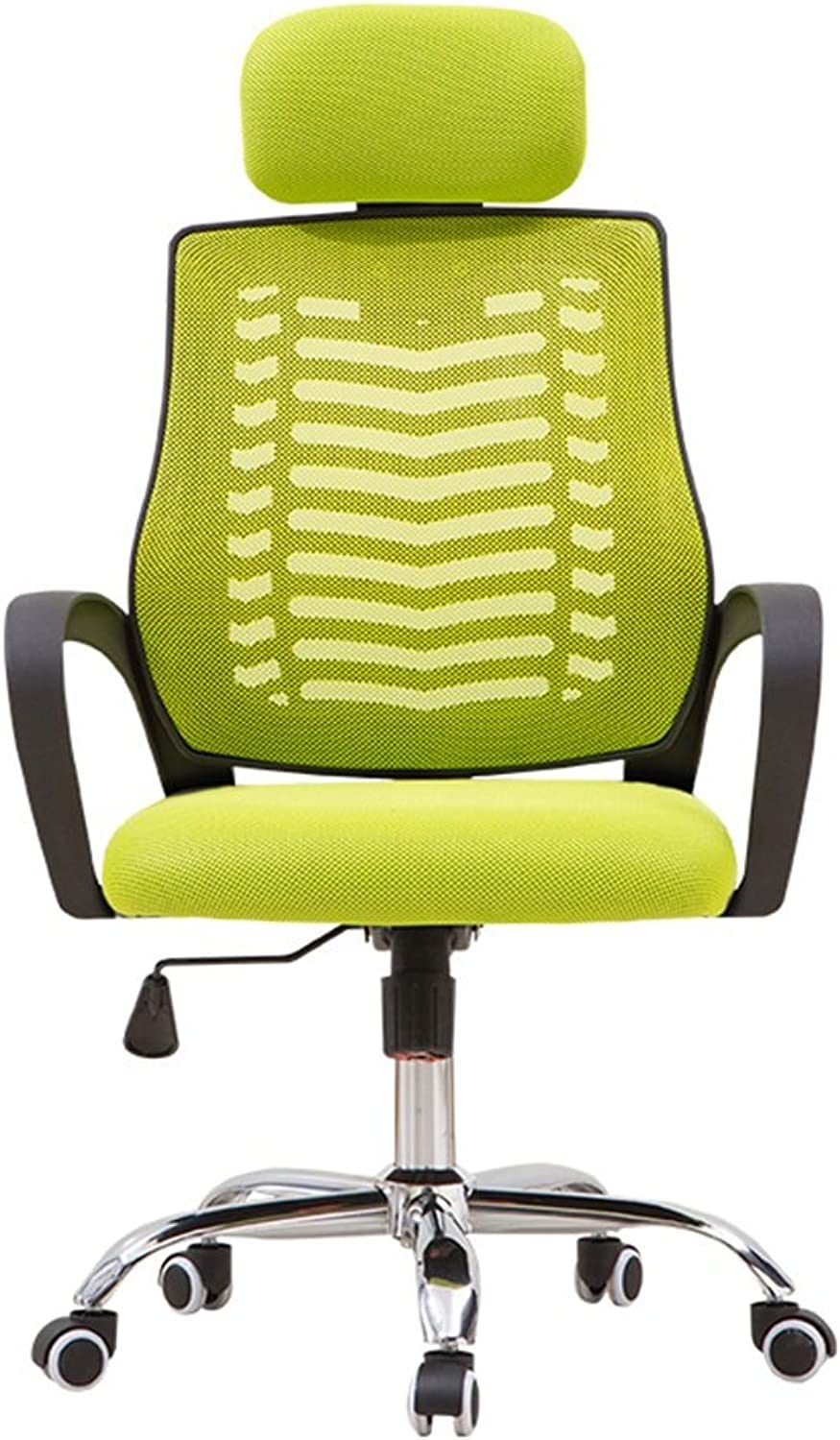 Home Leisure Back mesh Swivel Chair Home Computer Chair Comfortable Stool Student Chair Office Chair Staff Chair redating Chair (color   Green, Size   60cm60cm124cm)