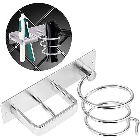 Jeffrey 2 Piezas Soporte de Secador de Pelo En Pared Soporte para Secador de Pelo Soporte para Herramientas de Cuidado del Cabello Soporte para Secador de Pelo con Ventosa para Ba/ño y Aseo
