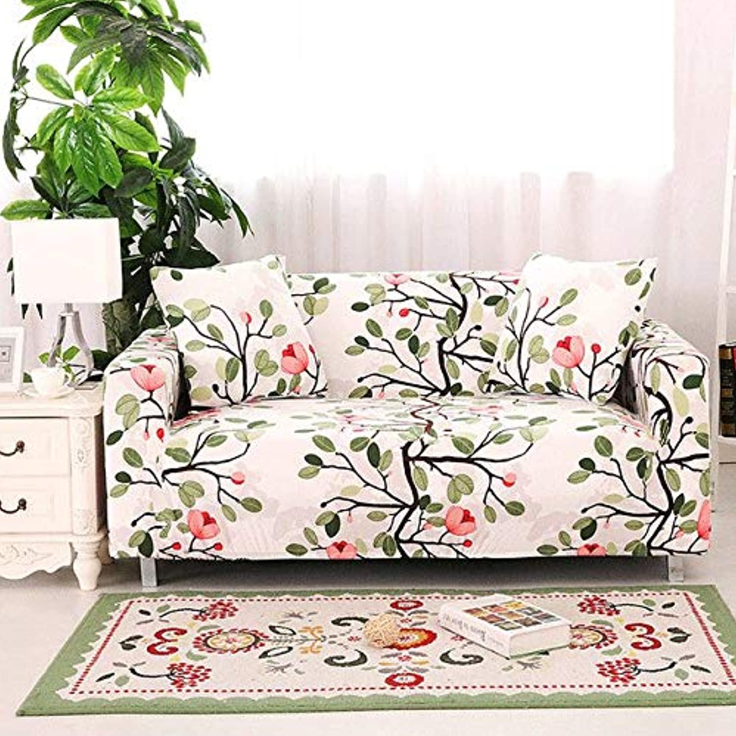 Stretch Elastic Sofa Cover Cotton cubre Sofa Towel Slip-Resistant Sofa Covers for Living Room funda Sofa   colour10, Single-Seater