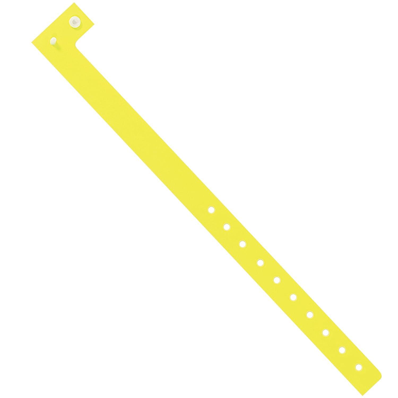 Yellow Day-Glo Plastic Wristbands, 3/4