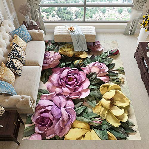 QAZW Living Room Rug Modern Rug Carpet Shaggy Large Living Room Area Rugs Non Shedding Easy To Clean Rectangular Area Rug