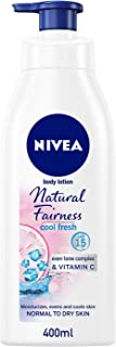 NIVEA Natural Fairness Fresh Body Lotion Normal to Dry Skin, 400 ml