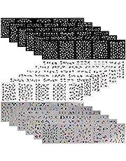 Mwoot 90 hojas (más de 3000 unids) 3D pegatinas de uñas varias flores mariposa patrones calcomanías diseños de uñas de arte para las mujeres niñas