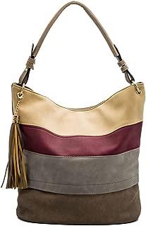 Handbags for women totes Hobo Shoulder Bags Tassels Stripes Top Handle Bags