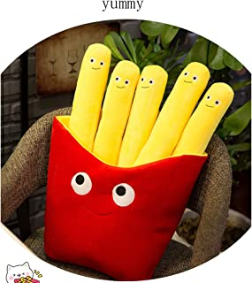 WAQIA Oh Emoji Cute Cartoon French Fries Plush Toys Soft Chips Plush Pillow Cushion Stuffed Toy Children Home Decoration Gifts for Kids