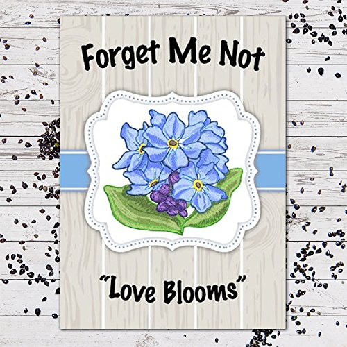 """25 Forget Me Not Seed Packet Favors (F02)""""Love Blooms"""""""