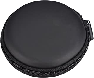 Housweety Earphone Headphone Carrying Hard Case/Bag Black