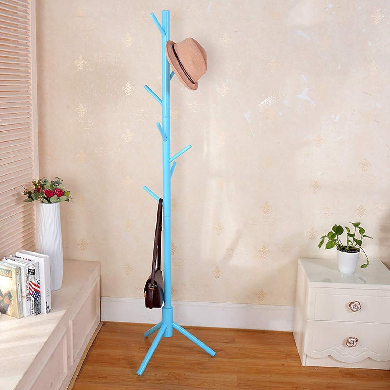 Solid Wood Coat Rack,Simple Entryway Standing Hall Tree,for hat Jacket Coat Hanger Rack in Living Room Bedroom Office-G 45x175cm(18x69inch)