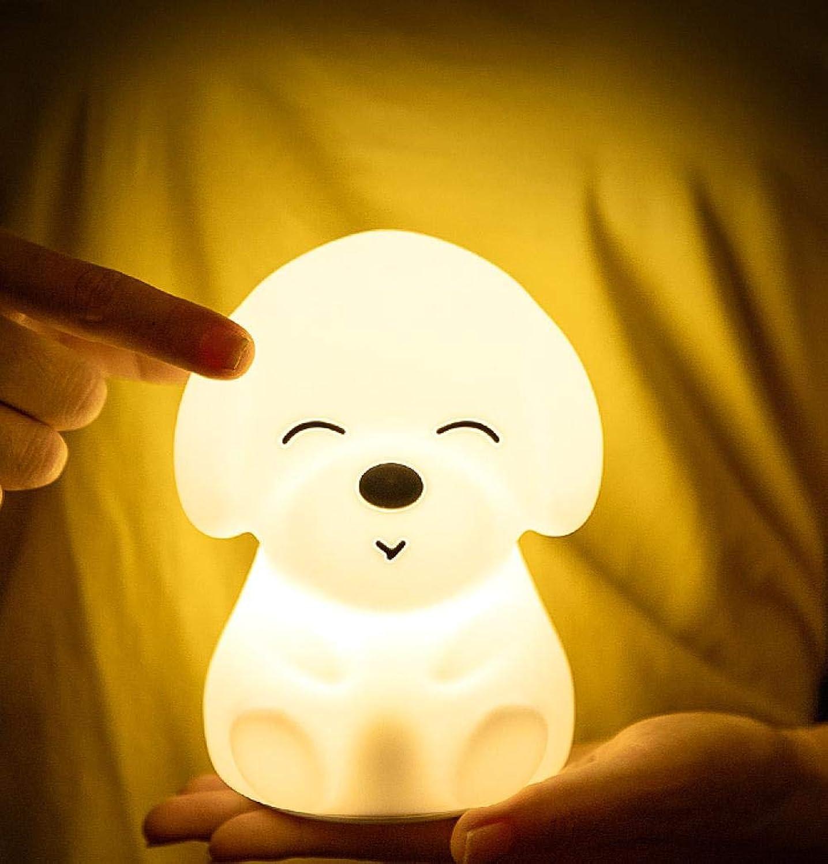 Lámpara De Mesita De Noche Luz De Nocturna Ledcreativa Noche De Cachorro Luz Iluminación Nia Romántica Dibujos Animados Nios Regalo Mesa Lámpara
