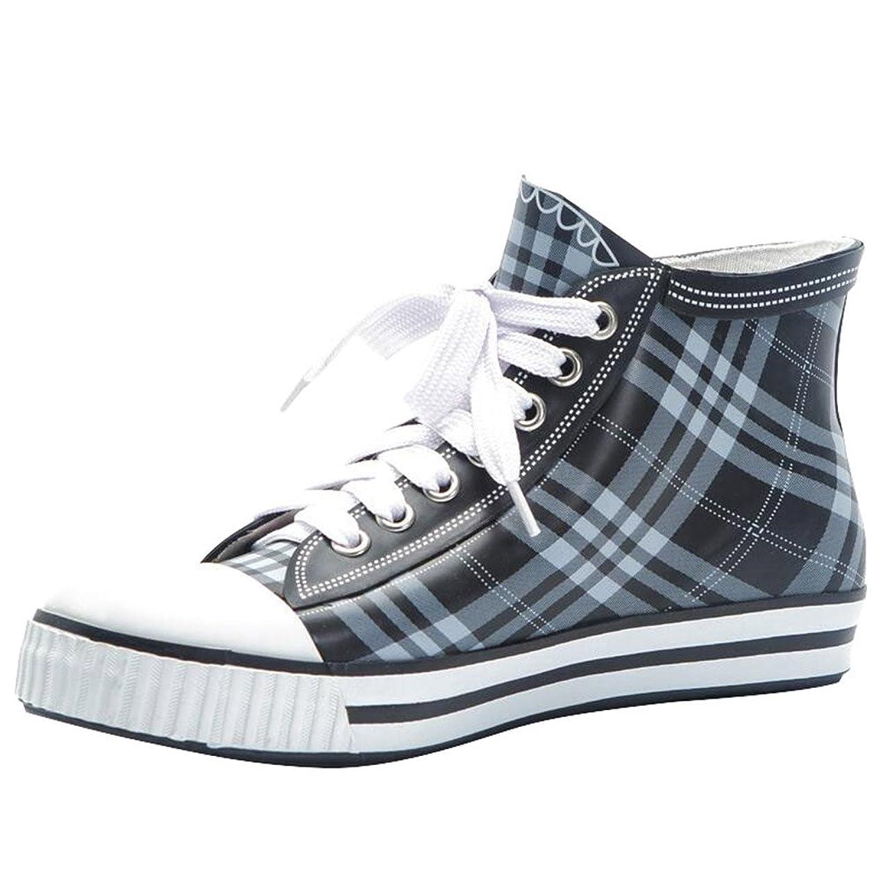 ミシン死にかけている逮捕[Cozy Maker] C&M レインブーツ レインシューズ レディース シューズ ブーツ 雨靴 雨の日 梅雨 可愛い 雨対策 防水 撥水 水作業 軽量 おしゃれ レースアップ 大きいサイズ