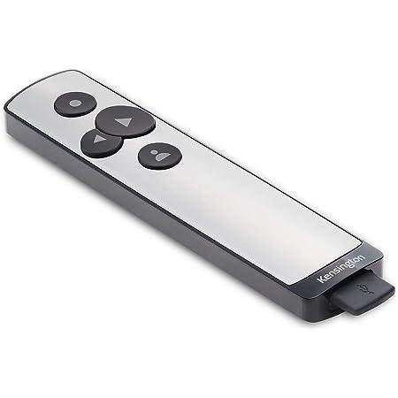 Kensington Télécommande de Présentation PowerPoint - USB Sans Fil avec Pointeur Laser Virtuel, Compatible avec Windows & macOS et Microsoft PowerPoint - Portée 15m (K75241EU)