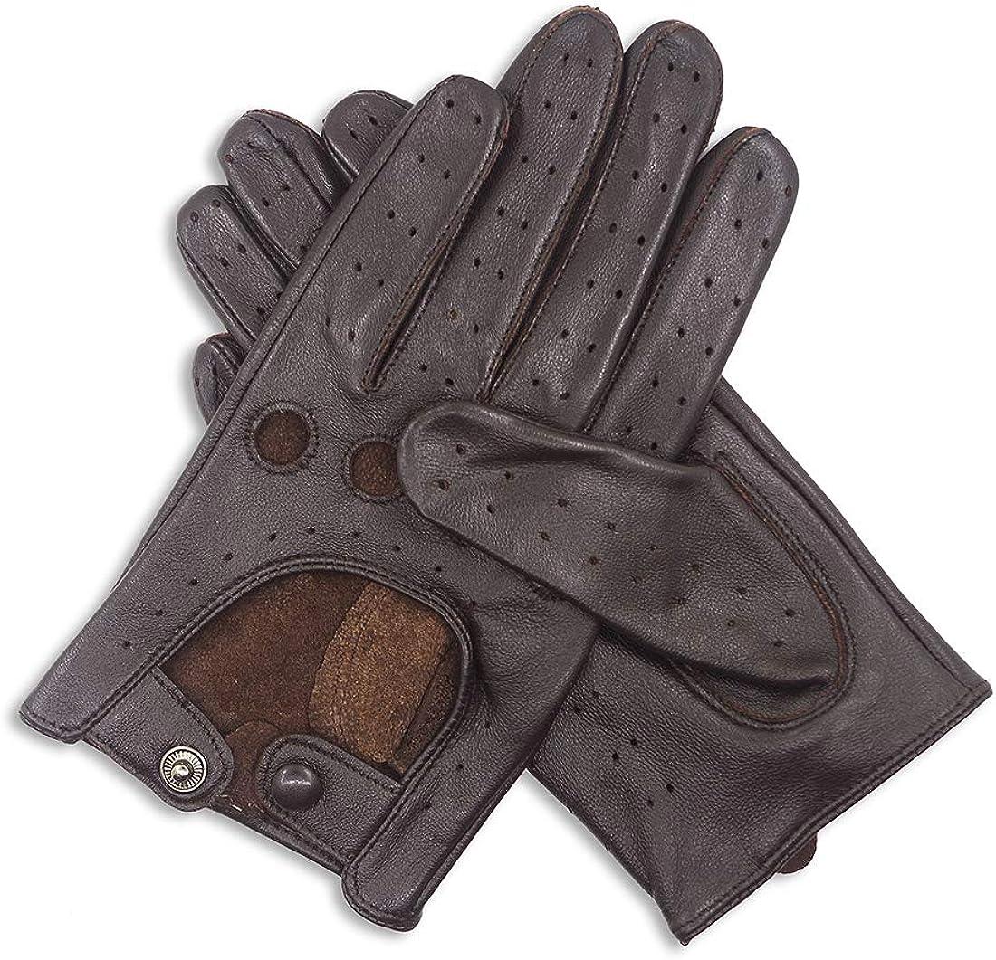Women Touchscreen Sheepskin leather Driving Gloves Unlined