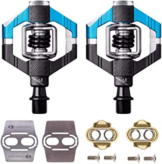 CRANKBROTHERs Crank Brothers Candy 7 Bike Pedals Pair (Blue/Black) with Premium Cleats and Shoe Shields Set for Traction