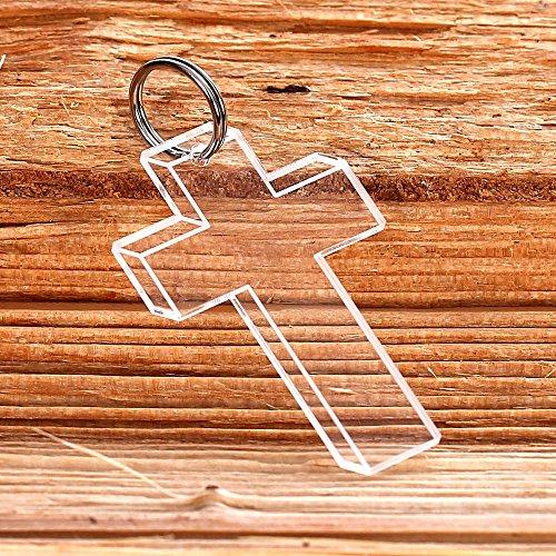 Bütic GmbH Plexiglas® Kreuz Anhänger Acrylglas Schlüsselanhänger Keltenkreuz Kreuz-Christi, Form:Kreuz 6