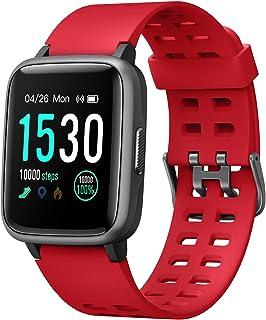 スマートウォッチ 腕時計 YAMAY 最新 歩数計 活動量計 ストップウォッチ IP68防水 最長連続7日間使用可能 画面の明るさ調節 着信電話/Line/Twitter/SMS/アプリ通知 日本語アプリ iphone&Android 対応