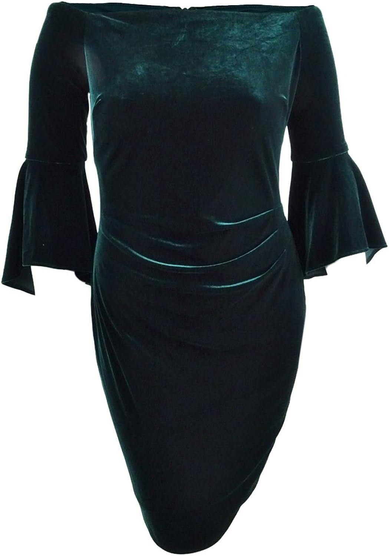 Lauren Ralph Lauren Womens Velvet OffTheShoulder Cocktail Dress