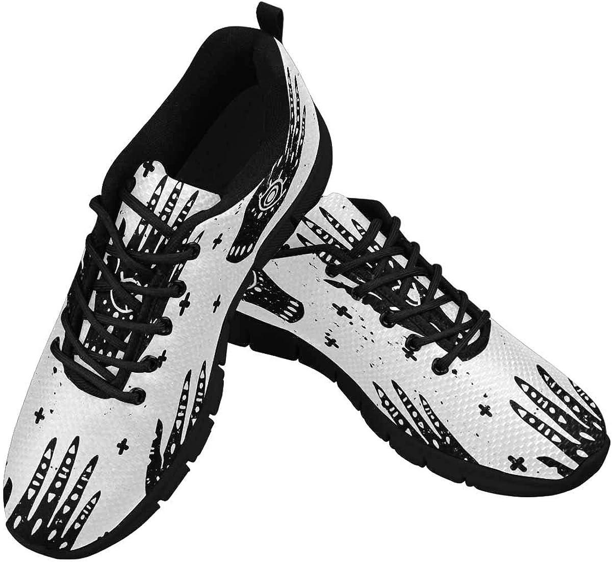InterestPrint Hands Hamsa Fatima Symbol Women's Athletic Mesh Breathable Casual Sneaker