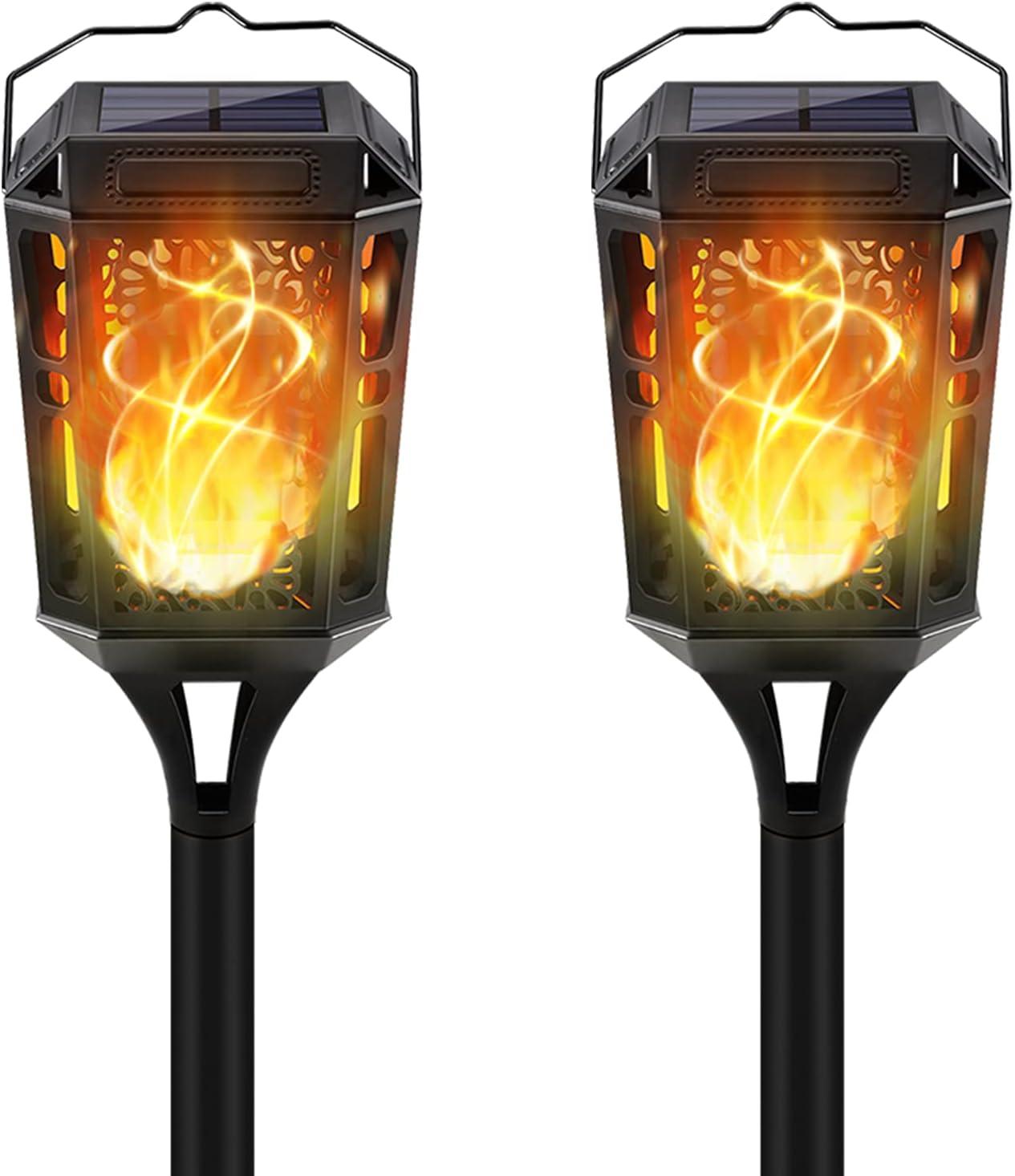 KYEKIO Detroit Mall Solar Lights Ranking TOP3 Outdoor Decorative Tiki 2Pack Torches