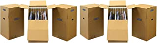 Bankers Box SmoothMove Wardrobe Moving Boxes, Tall, 24 x 24 x 40 inches, 3 Pack (7711001) (2 X 3 Pack)