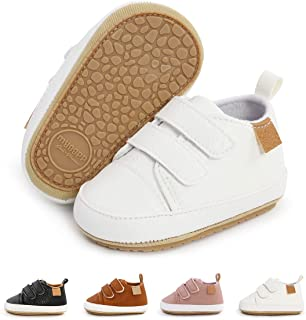 Sponsored Ad - BEBARFER Toddler Baby Boys Girls Shoes Infant Moccasins Anti-Slip Sole Newborn Oxford Loafers Sneakers Wedd...