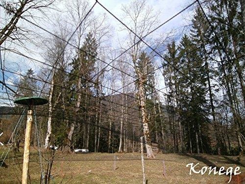 Volierennetz - Breite 5,0m x Länge 10,0m, Mw 10,0cm, europ. Fertigung, Geflügelnetz