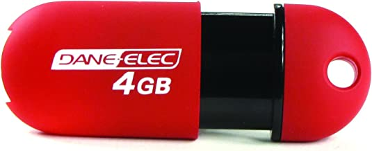 Dane-Elec 4 GB USB 2.0 Flash Drive (Red)