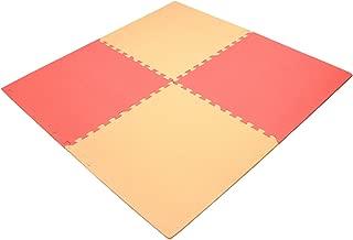 抗菌ジョイントマット mio 60cm 4枚組 フチ付 ピンク 80441