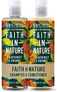 Faith in Nature Set de Champú y Acondicionador Natural de Pomelo y Naranja Vegano y No Testado en Animales sin Parabenos...
