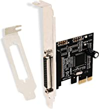 LinksTek 1 Port PCI Express (PCIE) Parallel Host Controller Card-DB25 PCIE Parallel Adapter-Comply with IEEE 1284 Standard-Support SPP/EPP/ECP -Include Low Profile Bracket for Slim PCs (PCIE-PA1)