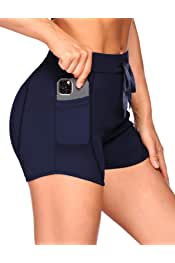 COOrun Women Slimming Compression Cross Lines Gym Yoga Fitness Muscle Running Shorts