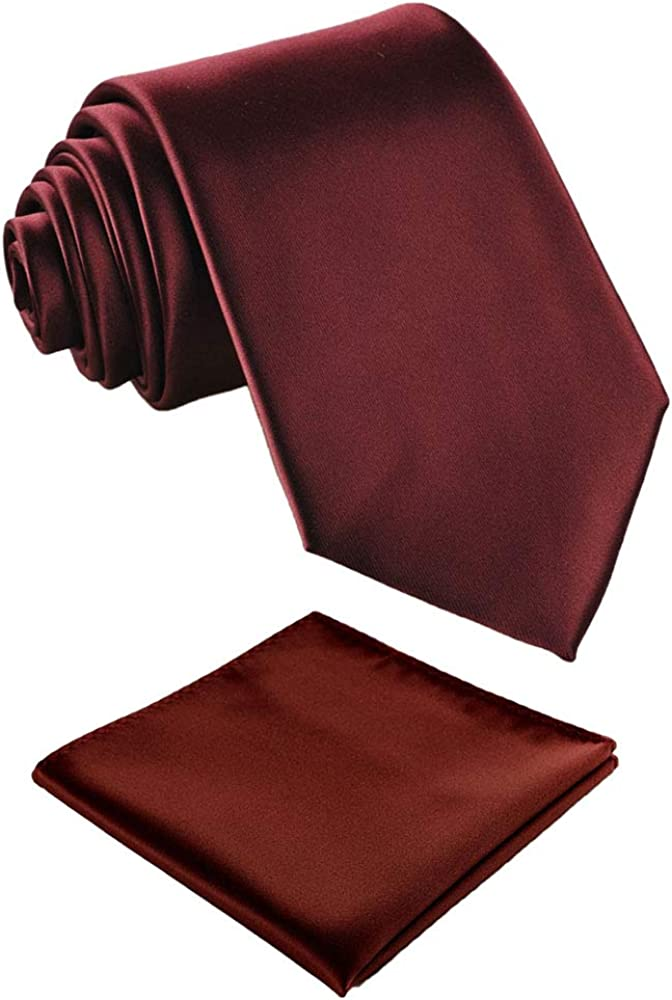 Fortunatever Mens Solid Color Extra Long Neckties,Hademade Ties For Men With Multiple Colors+Gift Box