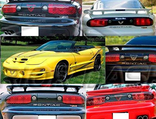 Pontiac Firebird Trans AM extérieur arrière Chrome Bumper Inserts Lettres Emblème Logo Set d'habillage de hayon 1997 1998 1999