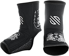 Sanabul Battle Forged Striking Gel Ankle Guard for MMA Muay Thai Kick Boxing (Pair)