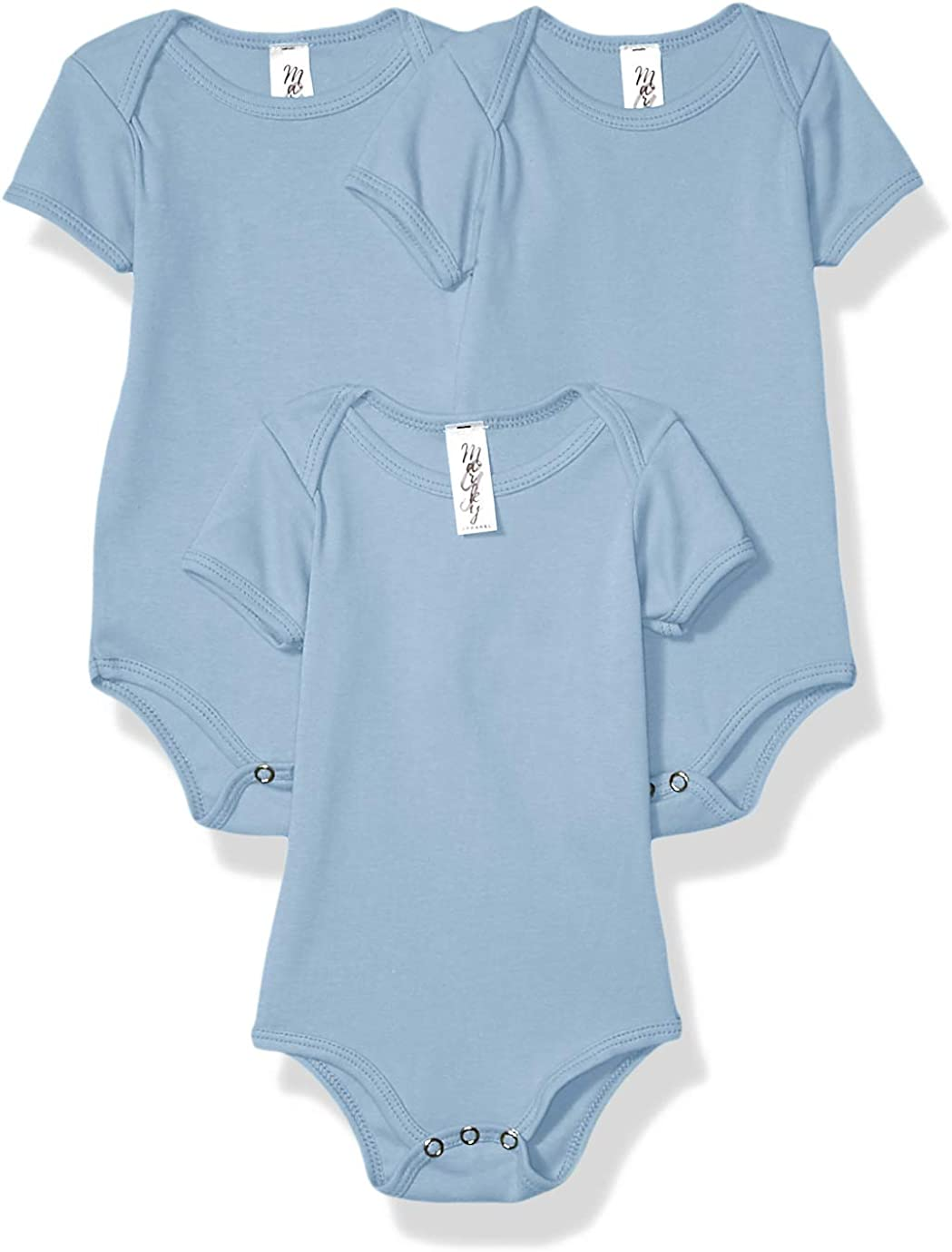 Marky G Apparel Baby Rib Short-Sleeve One-Piece-3 Pack