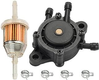 HIPA Fuel Pump + Fuel Filter for John Deere L105 L107 L108 L111 L118 L120 L130 LT166 LT180 LT190 LTR166 LTR180 LX277 LX280 LX288 Riding Lawn Mower
