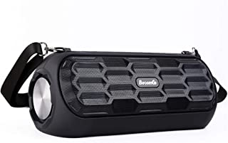 GLJJQMY Wireless Bluetooth Speaker High Power Subwoofer Portable Shoulder Strap Mini Outdoor Musical Drum