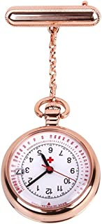 Nurse Watch Fob Pocket Watch Top Brand Quartz Brooch Medical Watch Pendants Rose Gold Silver