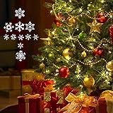 VINFUTUR 100 Stücke Weihnachtenanhänger Holz Schneeflocken 25mm 35mm Mini Streuteile Schneeflocken Tischdeko Weihnachten Winterdeko Holzdeko (Schneeflocken) - 6