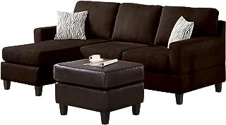 Best acme vogue microfiber reversible chaise sectional sofa Reviews