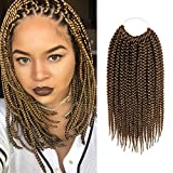 8 Packs 12 Inch AU-THEN-TIC Box Braid Crochet Hair Crochet Box Braids Hair Mambo Twist Braiding Pre Stretched Pre Looped Synthetic Heat Resistant Hair Extensions (12 Inch (Pack of 8), 27)