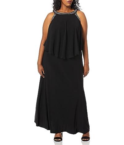 Alex Evenings Plus-size Cold Shoulder Popover Dress