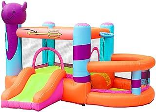 YBWEN Castillos hinchables Inflable Castillo Hinchable, de Grande Inflable Castillo niños Zona de Juegos Cubierta al Aire Libre Castillo Inflable (Color : Orange, Size : 295x270x195cm)