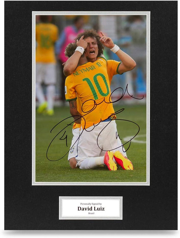 David Luiz Signed 16x12 Photo Display Brazil Autograph Memorabilia + COA