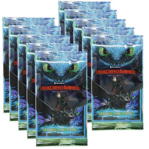 10 BOOSTE PANINI Dragons serie 4 TRADING CARDS Starterset incl Limited Edition