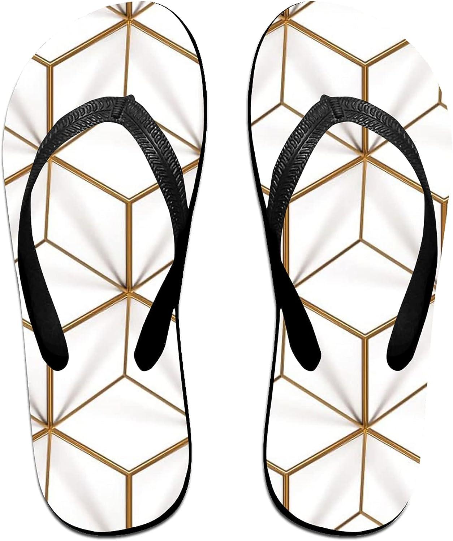Phnom Penh Brick Splicing Flip-Flop Sandals for Summer Beach, Slippers for Men Women